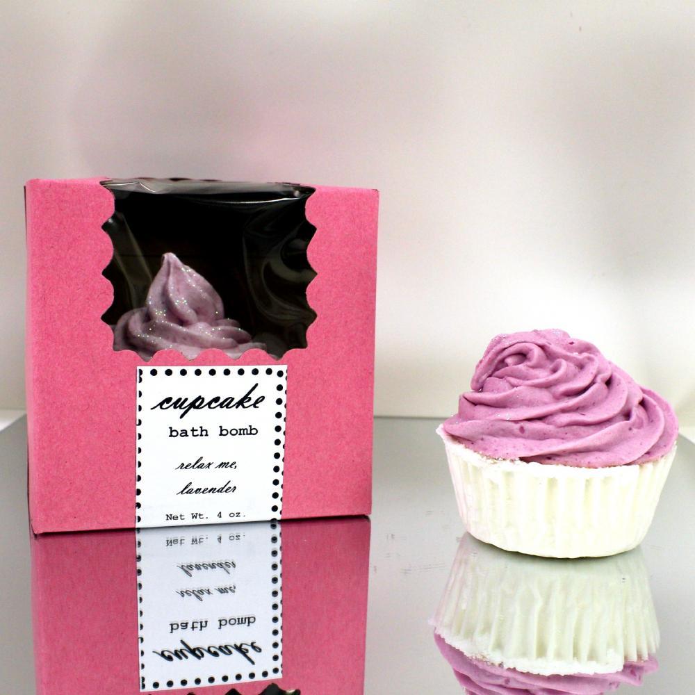 Relax, Me Lavender Cupcake Bath Bomb