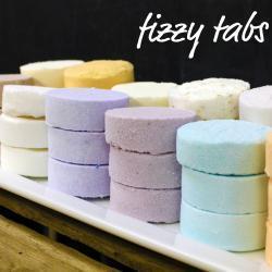 12 Fizzy Tabs - Moisturizing Mini Bath Bombs