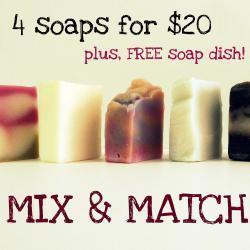 Buy 4 Soaps & 1 FREE Soap Dish